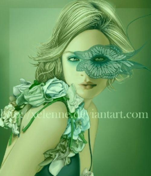 lady butterfly by xelenne.deviantart.com