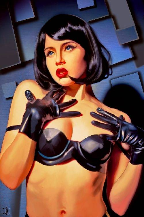 tribute to tamara de lempicka by csick02.deviantart.com - you can buy a print like this